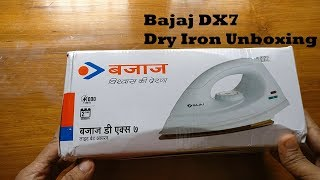 Bajaj DX 7 1000 Watt Dry Iron Unboxing And First Use Tips