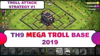 Town Hall 9 Mega Troll Base 2019 - Th9 Legend Push