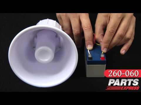 Parts Express 115 dB Alarm Siren Sound Demonstration