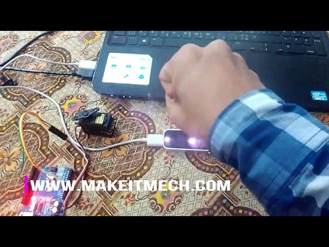 How to control servo motor with leap motion | Leap motion Robotic Arm