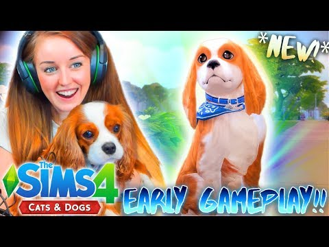 *NEW* 🐱🐶 SIMS 4 CATS & DOGS! MAKING EEVEE! 🐱🐶