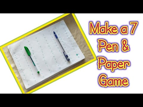 Number 7 Pen & Paper One Minute Game #diywithrj #kittygame #partygames #groupgames