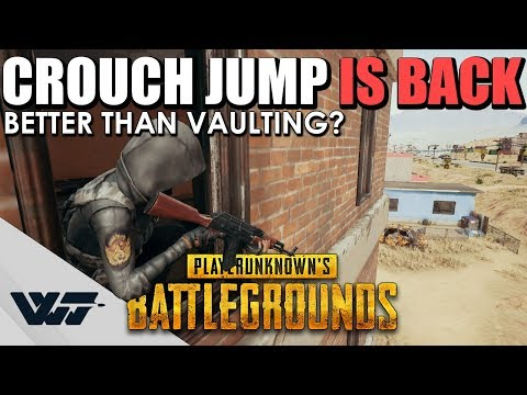 GUIDE: Crouch Jumping IS BACK - This is how you do it! (Better than vaulting?) - PUBG