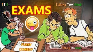 Talking Tom Hindi - EXAMS Funny Comedy - Talking Tom Funny Videos