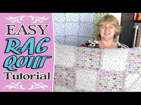 Rag Quilt Tutorial - Easy Beginners Rag Quilt