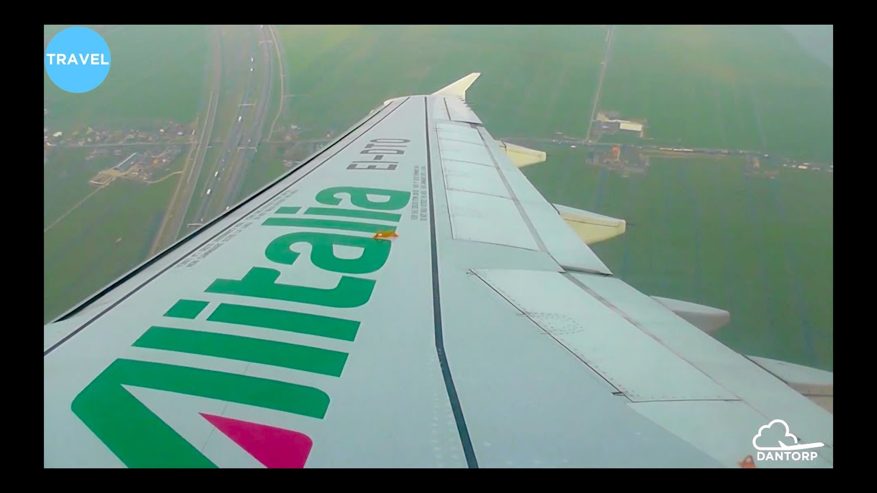 Alitalia A320 Descent, Approach and Landing at Amsterdam Schiphol!