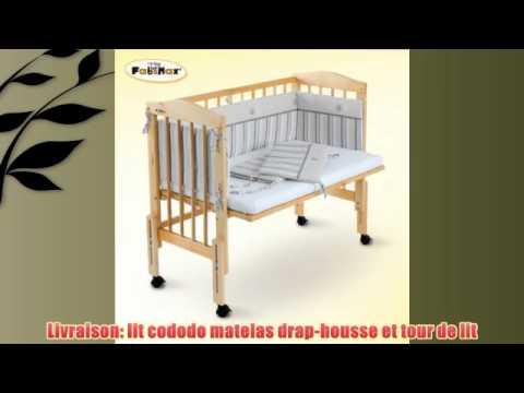 fabimax lit cododo babymax pro avec tour de lit emily beige et matelas silver youtube. Black Bedroom Furniture Sets. Home Design Ideas