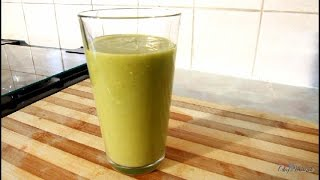 Hot Summer Drink With  Ginger ,Spinach Honey ,Banana ,Mango Recipe [Jamaica Drink ]