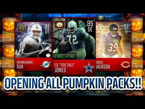 MOST FEARED PUMPKIN PACKS ARE HERE!! MADDEN MOBILE 18 MYSTERY BOX OPENING AND TIPS!!