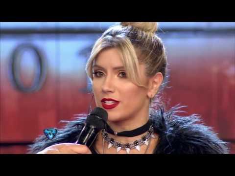 La sorpresiva reacción de Laurita Fernández cuando vio a Hoppe mientras daba una nota