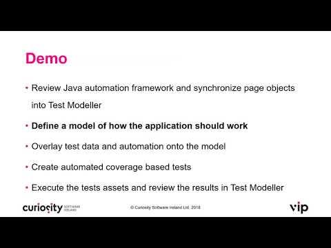 Complete Selenium Web Automation using VIP Test Modeller