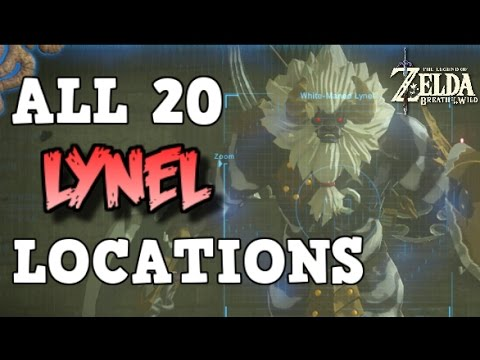 ALL 20 LYNEL LOCATIONS Zelda Breath Of The Wild