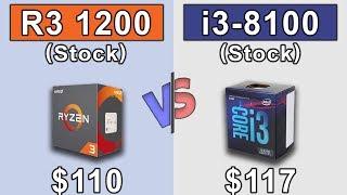 Ryzen 3 1200 (Stock) vs i3 8100 | GTX 980 | New Games Benchmarks