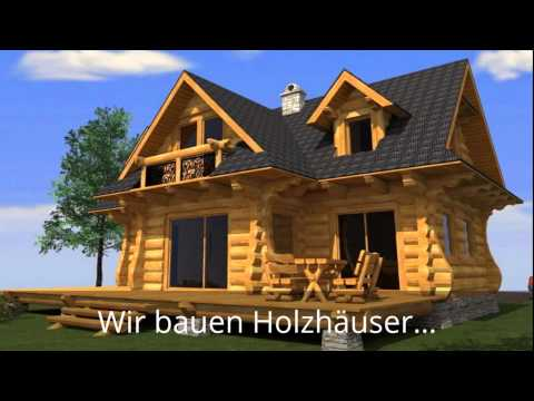 naturstammhaus tv blockhaus in morsbach doovi. Black Bedroom Furniture Sets. Home Design Ideas