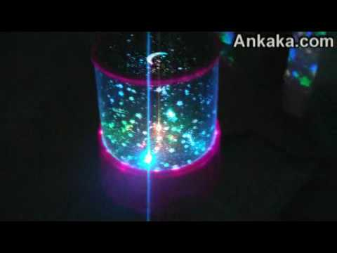 3d Fountain Wallpaper Starry Night Sky Projector Color Changing Led Light Youtube