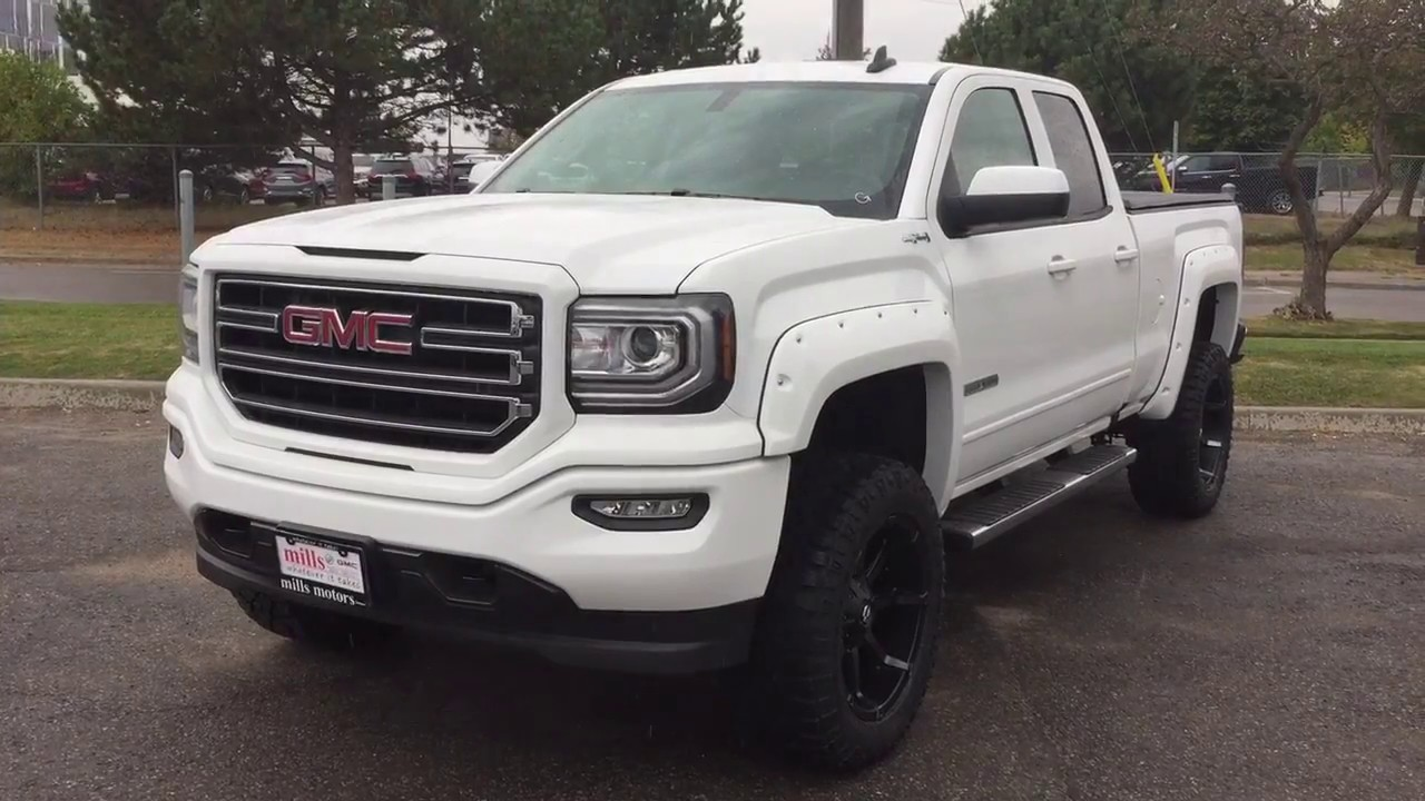 2018 Gmc Sierra 1500 Double Cab 5 Inch Lift Fuel Wheels White Oshawa
