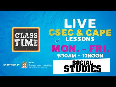 CSEC Social Studies 10:35AM-11:10AM   Educating a Nation - October 26 2020