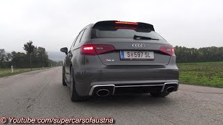 2015 audi rs3 brutal ride launch control revs and accelerations