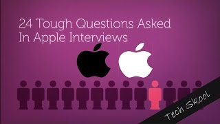 (2016)24 Toughest questions asked in Apple interviews with Answer