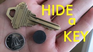 Easy Way to Hide a Spare Key