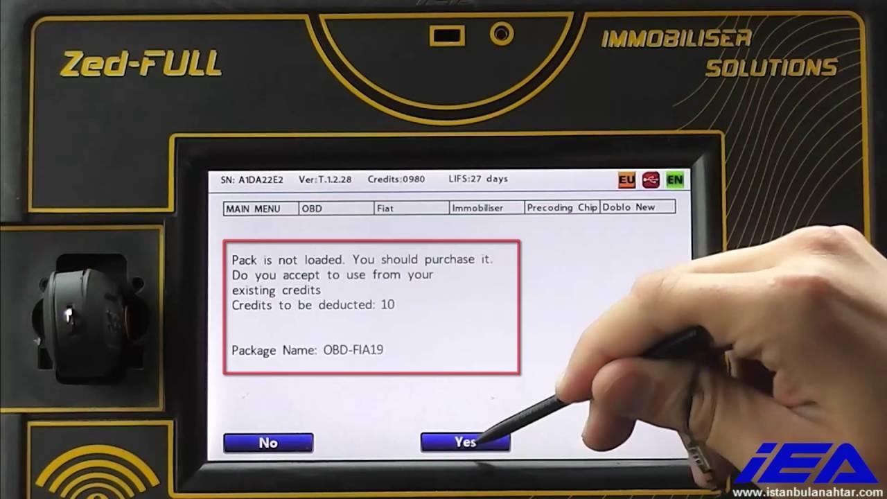 Zed-FULL OBD Key Programming for Fiat Delphi 46 Chip based BSI (93c86/NEC)