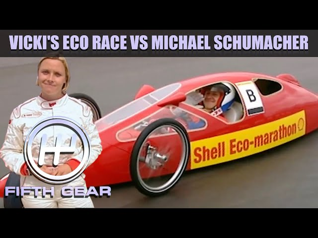 Vicki's Eco race with Michael Schumacher | Fifth Gear Classic