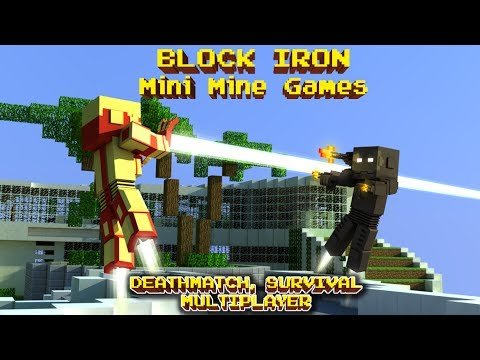 BLOCK IRON MAN 3D ( HUNGER WORLD) - MINE MINI FPS SURVIVAL & MULTIPLAYER POCKET GAME (MINECRAFT)