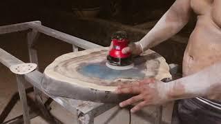 Phục chế lại mặt epoxy resin bị xước có được ko?