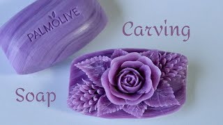 SOAP CARVING   Soap Flower    Relaxing to Make and See