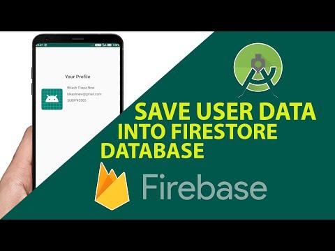 Store User Profile Data In Firebase FireStore | Firestore Tutorials | Android Studio