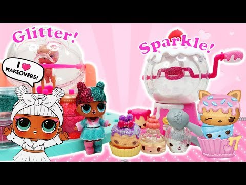 LOL Surprise DIY Glitter Factory vs Num Noms Shimmer Playset Makeover