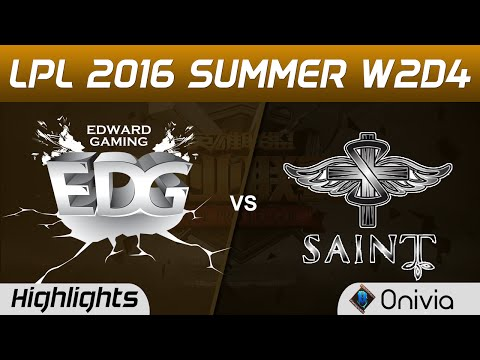 EDG vs SAT Highlights Game 2 Tencent LPL Summer 2016 W2D4 Edward Gaming vs Saint Gaming