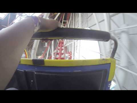 GoPro POV Mindbender at WEM West Edmonton Mall Galaxyland Roller Coaster HD