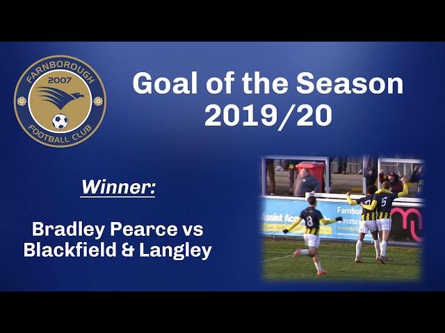 Farnborough FC - 2019-2020 Goal of the Season - Bradley Pearce