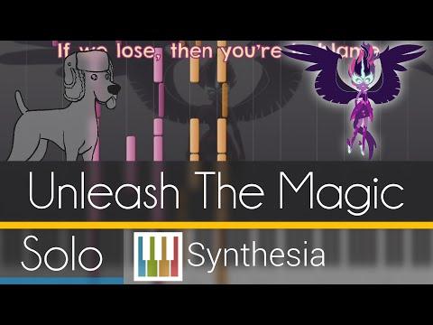 Unleash the Magic -  SOLO PIANO COVER w/LYRICS  -- Synthesia HD