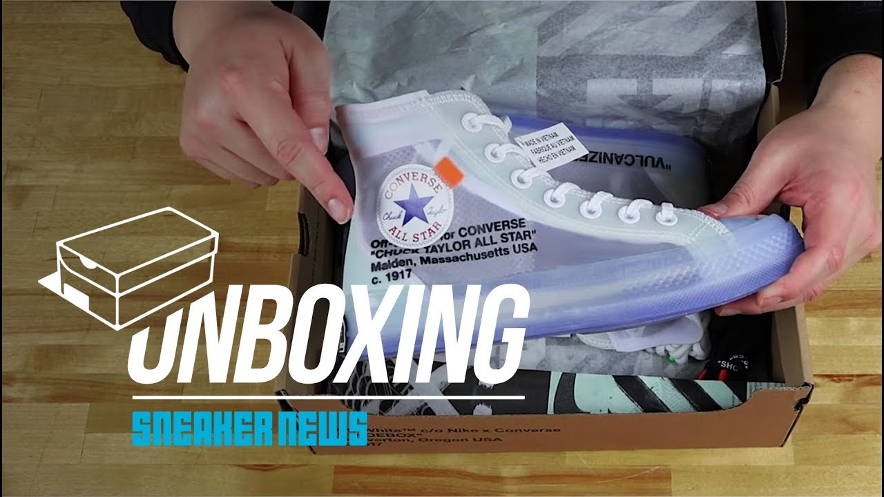 5b09a0742035cd Off White Converse Chuck Taylor Unboxing + Review - YouTube