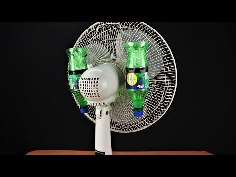 how-to-make-air-conditioner-at-home-using-old-fan-&-plastic-bottle
