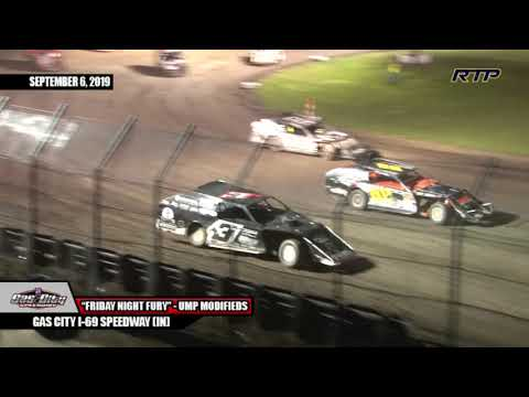 "2019 Gas City I-69 Speedway - ""Friday Night Fury"" - UMP Modifieds - (HIGHLIGHTS)"