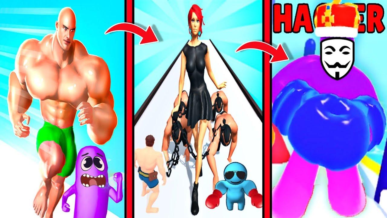 Noob Vs Pro Vs Hacker In Human Vehicle, Throw Man || funny games