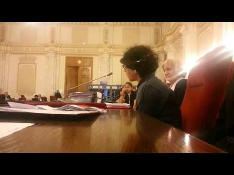 Romanian girl living in an Romanian orphanage  Speaking to the Romanian parliament!