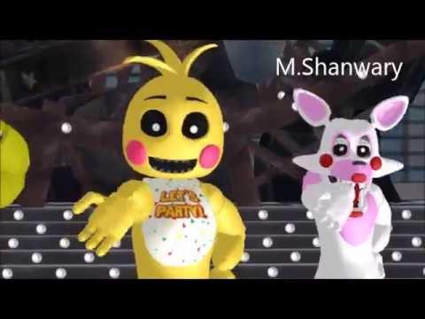 (MMD X FNAF)Tik Tok (Toy Chica x Mangle x chica)