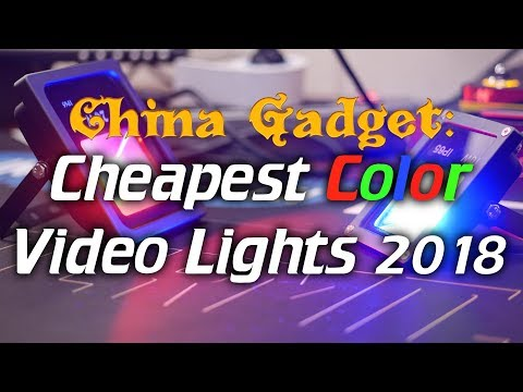 Cheapest Color Video Lights!! (2018)
