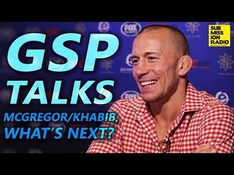 "GSP: ""I Would Be Interested"" in Conor McGregor vs. Khabib Nurmagomedov Winner"