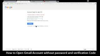 Open Gmail without password and Verification Code   YouTube