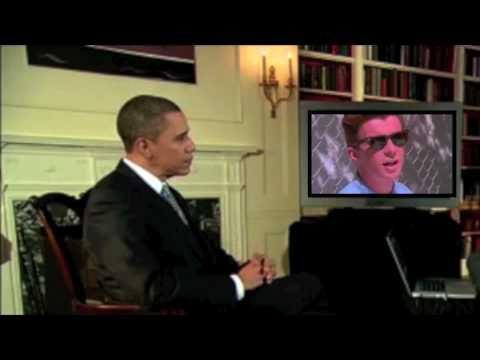 Barack Obama Gets Rick Roll'd! During YouTube Interview