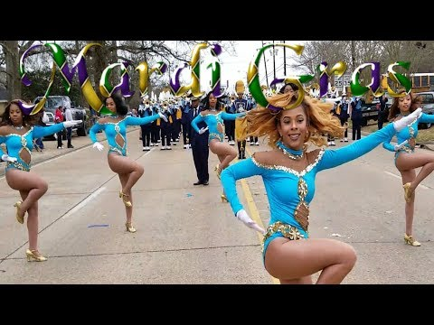 Dancing Dolls Parade Routines SU Human Jukebox Marching Band - 2018 Mardi Gras Parade