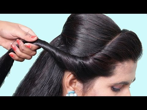 Easy hairstyle for wedding guest | simple hairstyle | hair style girl | Hairstyles 2018 thumbnail