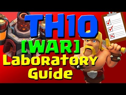 Clash of Clans: [WAR] TH10 Laboratory Research Guide (September 2016) ULTIMATE!!!
