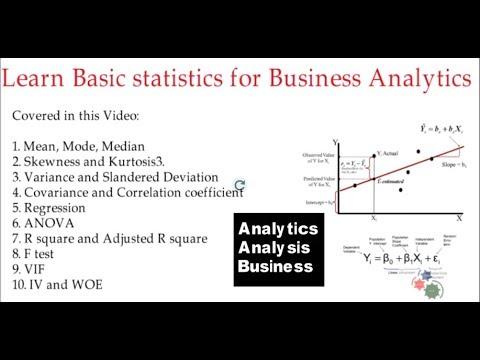 Learn Basic statistics for Business Analytics