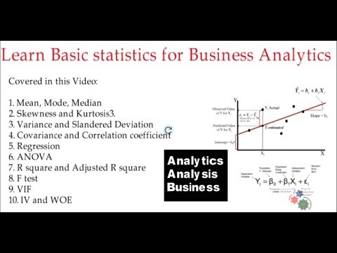 Learn Basic statistics for Business Analytics